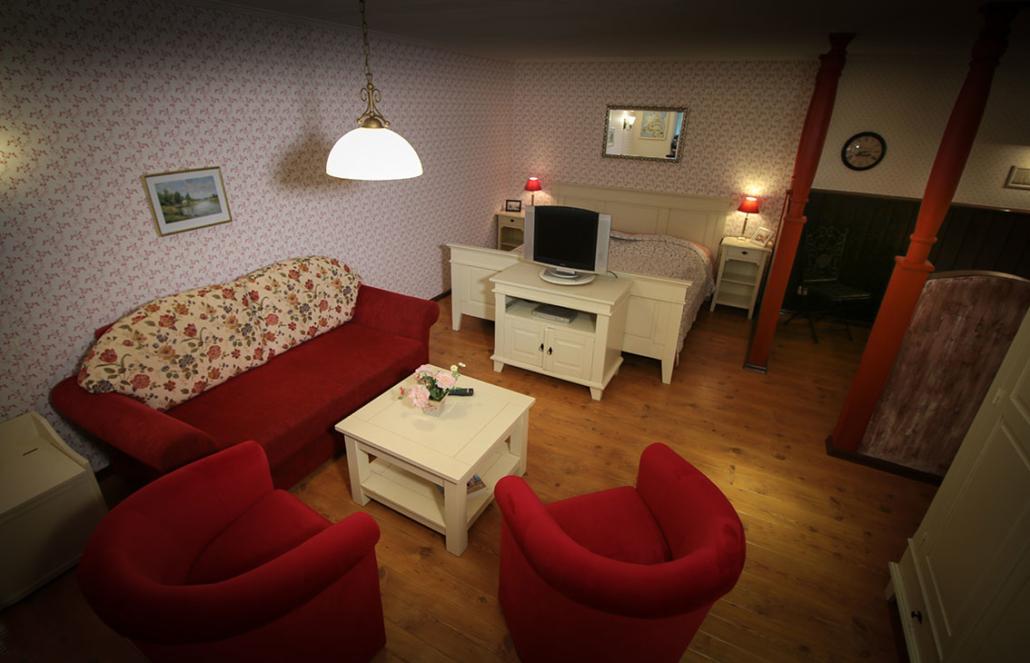 Wohnzimmer - Alter Schwede Gästehaus Dranske