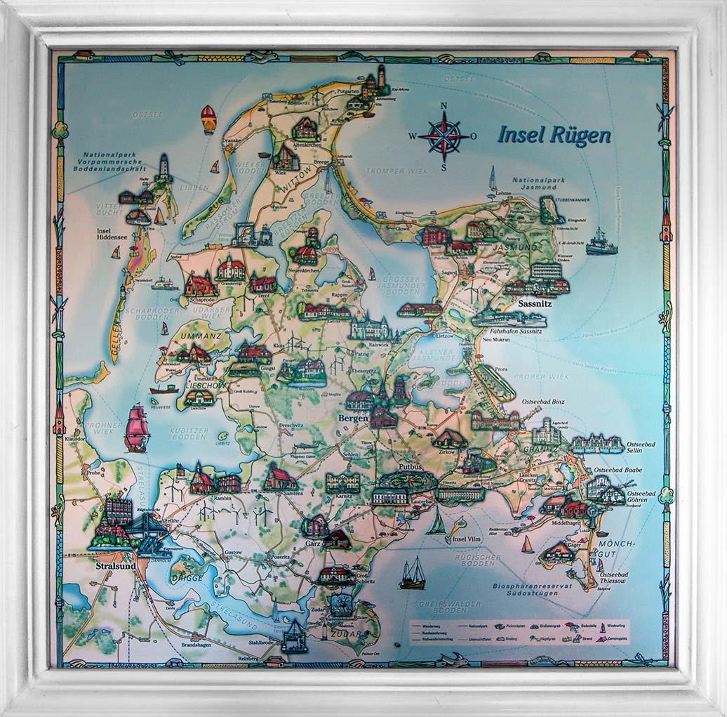 Rügen Karte - Gästehaus Alter Schwede